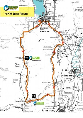 Bike For Your Life Century Ride 75KM bike route